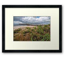 Rain Clouds Over Granite Island Framed Print