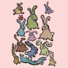 13 bunnies by greendeer