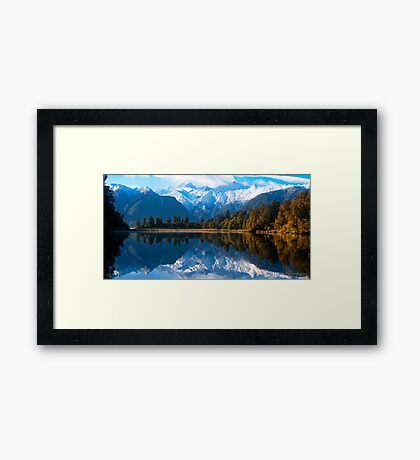 Lake Matheson, New Zealand Framed Print