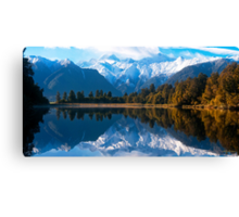 Lake Matheson, New Zealand Canvas Print