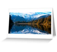 Lake Matheson, New Zealand Greeting Card
