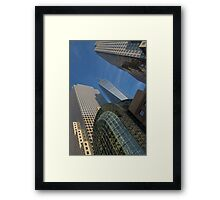 Manhattan Geometry - a Vertical View Framed Print