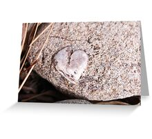Heart in a rock place Greeting Card
