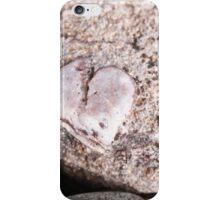 Heart in a rock place iPhone Case/Skin