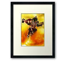 Rocket Powered Orc Raider Framed Print
