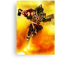 Rocket Powered Orc Raider Canvas Print