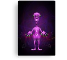 Fun Pink Alien Telepathic Power Canvas Print