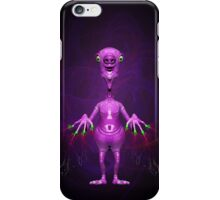 Fun Pink Alien Telepathic Power iPhone Case/Skin