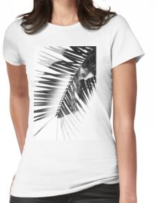 Double Exposure Portrait Womens Fitted T-Shirt