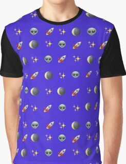 Space Emoji Graphic T-Shirt
