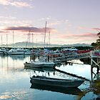 Beautiful sunset over Denarau Marina by photoeverywhere