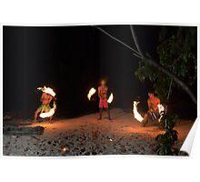 Fijian fire dance Poster