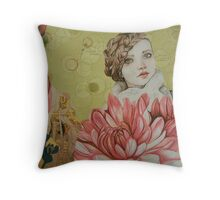 always happy girl Throw Pillow