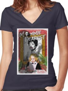 Mommie Dearest. Faye Dunaway. Joan Crawford. Women's Fitted V-Neck T-Shirt
