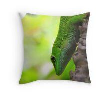 Lizard In A Tree Throw Pillow