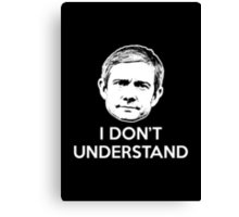 Watson Don't Understands (frontal) Canvas Print