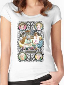Golden Girls. Blanche, Rose, Dorothy and Sophia. Women's Fitted Scoop T-Shirt