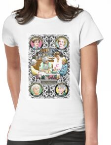 Golden Girls. Blanche, Rose, Dorothy and Sophia. Womens Fitted T-Shirt