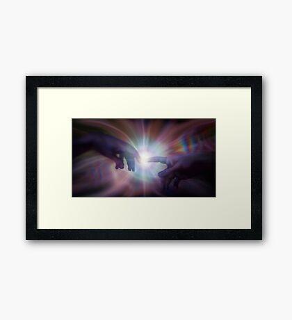 higgs boson Framed Print
