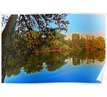 Summer evening on a quiet river Poster