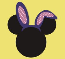 Minnie Mouse Purple Easter Bunny Ears Kids Clothes