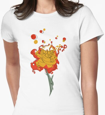 Lava Rose Womens Fitted T-Shirt
