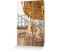 Old Town Merry Go Round Greeting Card
