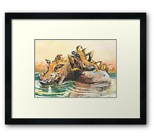 Happy in the water Framed Print