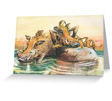 Happy in the water Greeting Card