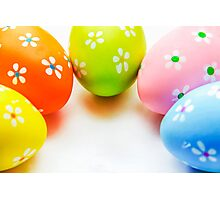 Colorful Easter Eggs Photographic Print