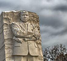 MLK Memorial after snowstorm by mkurec