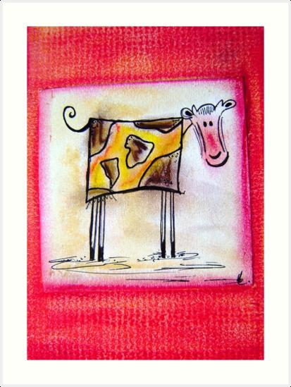 CARTOON COW by artistpixi