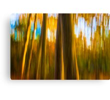 Abstract Nature -  Blurred Trees Canvas Print