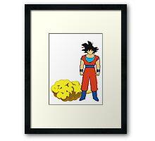 Goku and his cloud fanart Framed Print