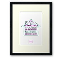Sherlock Holmes novel quote – brain attic Framed Print