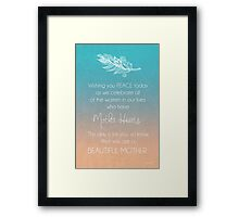 Beautiful Mother Framed Print