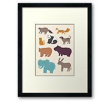 Cute animals Framed Print