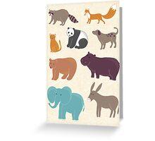 Cute animals Greeting Card