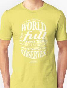 Sherlock Holmes novel quote – obvious things T-Shirt