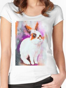Sunny rabbit  Women's Fitted Scoop T-Shirt