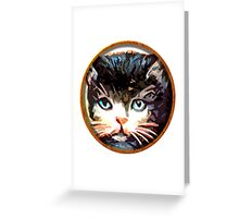 meow face Greeting Card