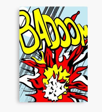 Action stations – badoom! Canvas Print