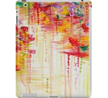 STORMY MOODS Bold Crimson Red colorful Rainbow Rain Clouds Nature Weather Fine Art Painting iPad Case/Skin