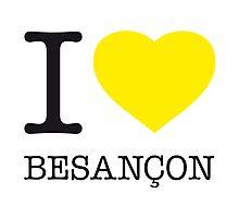 I ♥ BESANCON Photographic Print