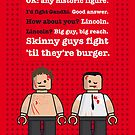 My Fight club lego dialogue poster by Chungkong