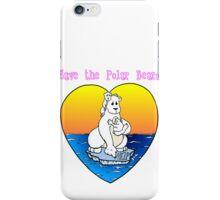 Save the Polar Bears iPhone Case/Skin