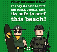 My apocalypse now lego dialogue poster by Chungkong