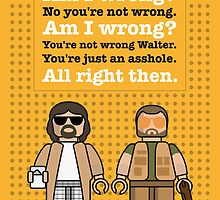 My The Big Lebowski lego dialogue poster by Chungkong