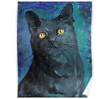 Black Cat Blues Poster