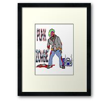 Punk Zombie Framed Print